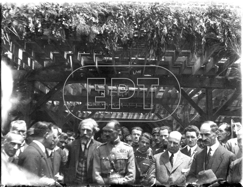 Ο συνταγματάρχης Νικόλαος Πλαστήρας και ο υπουργός Απόστολος Δοξιάδης