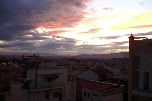 Ηλιοβασίλεμα από τον Βύρωνα
