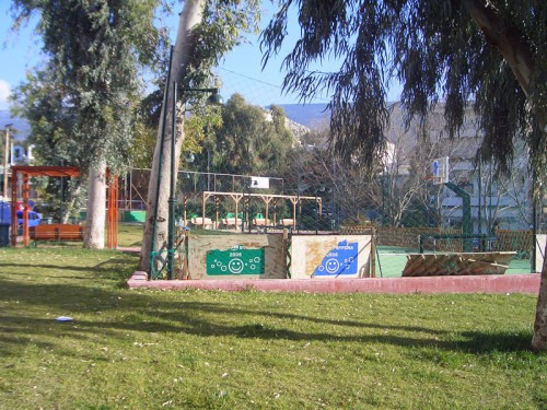 Γήπεδο μπάσκετ στο πάρκο της Φρυγίας